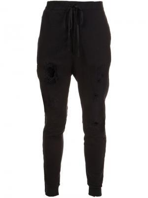 Спортивные брюки Unravel Project. Цвет: чёрный