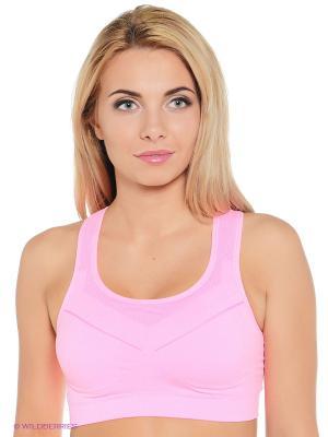 Спортивный топ Pro-Fit. Цвет: розовый
