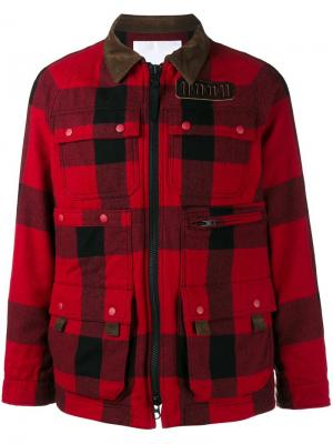 Куртка с накладными карманами White Mountaineering. Цвет: красный