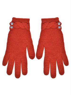 Перчатки R&I. Цвет: оранжевый