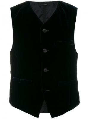 Full button waistcoat Giorgio Armani. Цвет: синий
