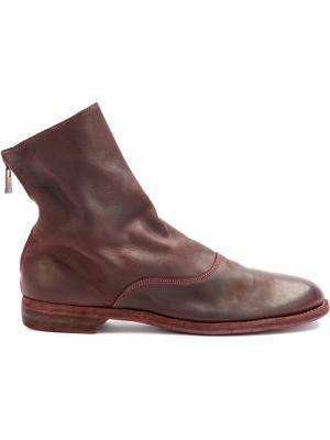 Ботинки по щиколотку Guidi. Цвет: розовый и фиолетовый