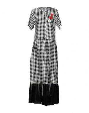 Длинное платье LUMI. Цвет: черный