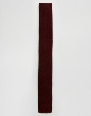 Jack & Jones Трикотажный галстук. Цвет: красный