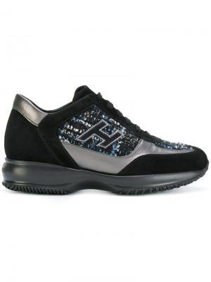 Кроссовки со шнуровкой Hogan. Цвет: чёрный