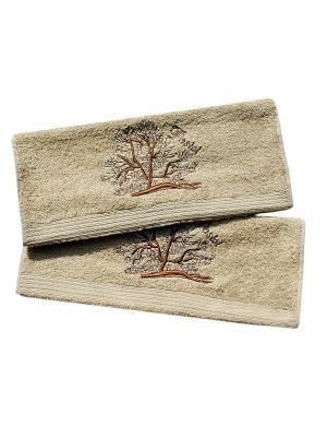 Комплект полотенец  Дерево 2 предмета 40х70 La Pastel. Цвет: бежевый, коричневый