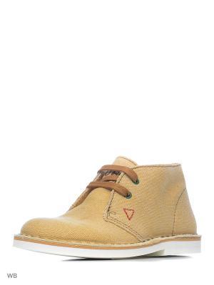 Ботинки GUESS. Цвет: бежевый