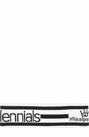 Шерстяная повязка на голову DGMillennials Dolce & Gabbana. Цвет: черно-белый