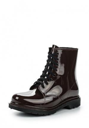 Резиновые ботинки Tom & Eva. Цвет: коричневый