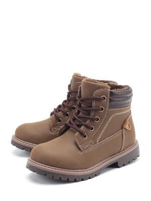 Ботинки Flois. Цвет: коричневый