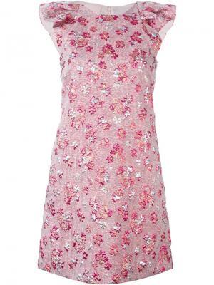 Фактурное платье Giamba. Цвет: розовый и фиолетовый
