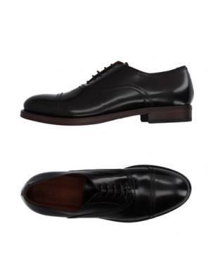 Обувь на шнурках INK. Цвет: темно-коричневый
