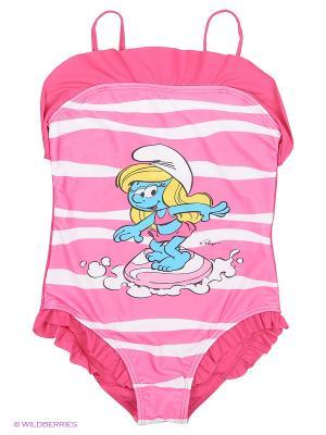 Купальник The Smurfs. Цвет: розовый, лиловый