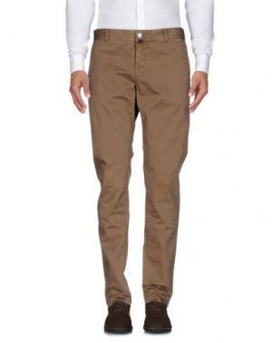 Повседневные брюки LUIGI BORRELLI NAPOLI. Цвет: песочный