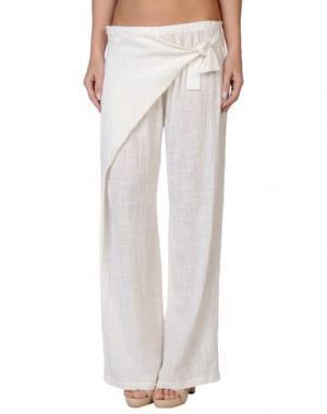 Пляжные брюки и шорты GRAZIA'LLIANI SOON. Цвет: слоновая кость