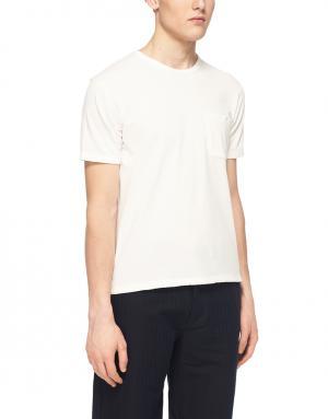 Хлопковая футболка YMC. Цвет: белый