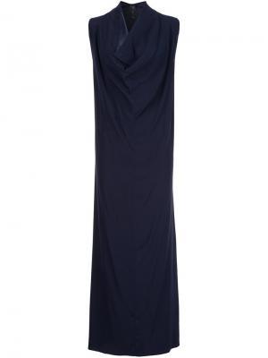 Длинное платье Zero + Maria Cornejo. Цвет: синий