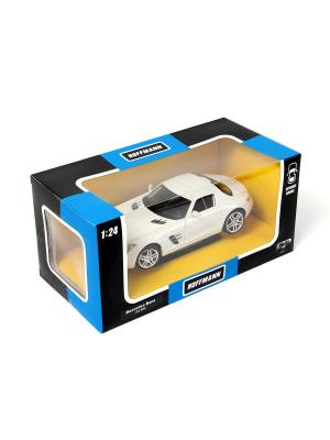 Машина металлическая Mercedes-Benz SLS AMG 1:24. HOFFMANN. Цвет: белый
