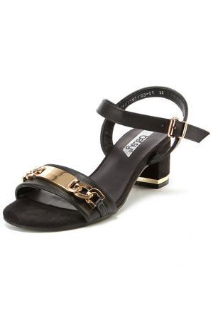 Туфли открытые Betsy. Цвет: черный