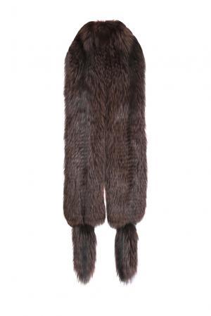 Меховой палантин 153247 Kaminsky. Цвет: коричневый