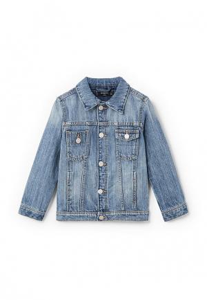 Куртка Mango Kids. Цвет: голубой
