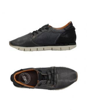 Низкие кеды и кроссовки PAWELK'S. Цвет: темно-синий