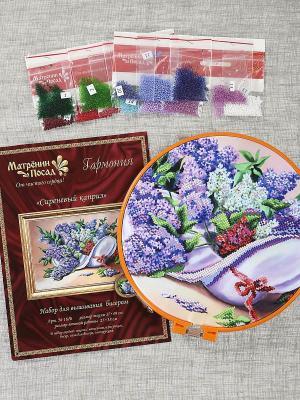 Набор для вышивания бисером Матренин Посад. Цвет: фиолетовый, кремовый, зеленый