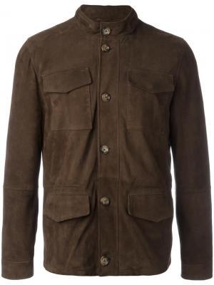 Куртка с накладными карманами Eleventy. Цвет: коричневый