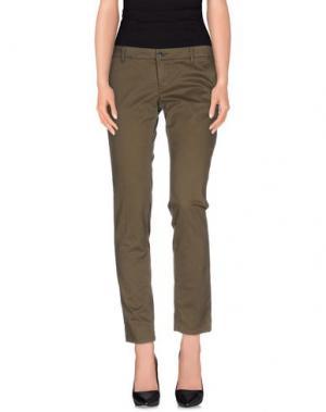 Повседневные брюки GOLD CASE. Цвет: зеленый-милитари