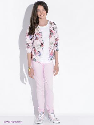 Джинсы GUESS. Цвет: бледно-розовый