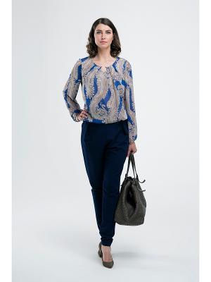 Блузка Modern. Цвет: серо-голубой