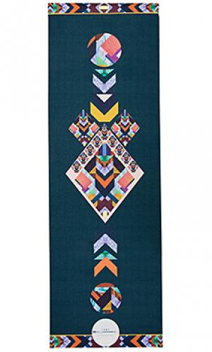 Коврик для йоги tribal La Vie Boheme Yoga. Цвет: сине-зеленый