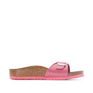 Туфли без задника синтетические BIRKENSTOCK. Цвет: розовый