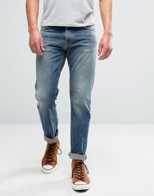 Nudie Jeans Выбеленные джинсы цвета индиго Co Steady Eddie. Цвет: синий