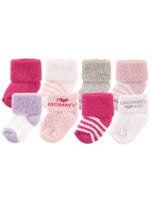 Носочки I love mommy, daddy Luvable Friends. Цвет: розовый, серый