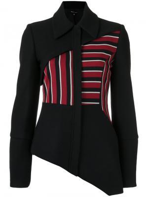 Asymmetric jacket Gloria Coelho. Цвет: чёрный