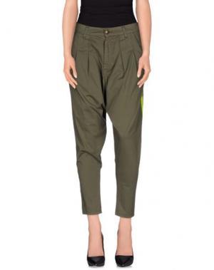 Повседневные брюки MNML COUTURE. Цвет: зеленый-милитари