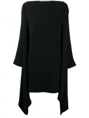 Драпированное платье Gianluca Capannolo. Цвет: чёрный