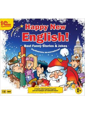 1C:Аудиокниги. Happy New English! (Best funny stories) 1С-Паблишинг. Цвет: белый