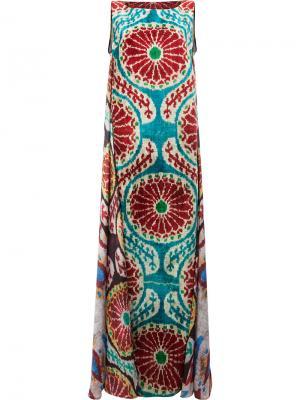 Платье макси с узором Afroditi Hera. Цвет: многоцветный