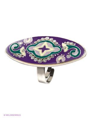 Кольцо Clara Bijoux. Цвет: зеленый, сиреневый, фиолетовый, бежевый