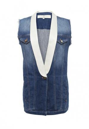 Жилет джинсовый Elisabetta Franchi. Цвет: синий