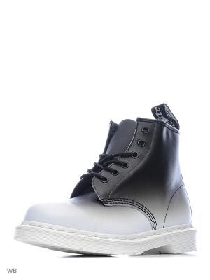 Ботинки высокие Dr.Martens. Цвет: черный, белый