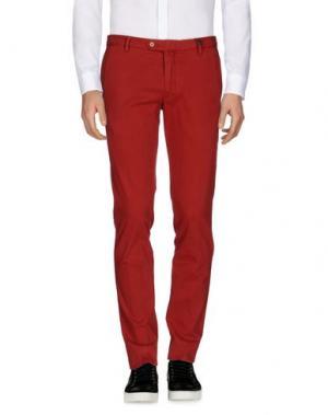 Повседневные брюки GIO ZUBON. Цвет: кирпично-красный
