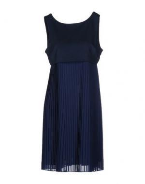 Короткое платье PRINCESSE METROPOLITAINE. Цвет: грифельно-синий