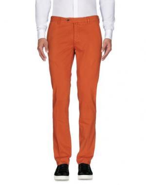 Повседневные брюки LUIGI BIANCHI MANTOVA. Цвет: ржаво-коричневый