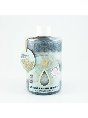 Солевая ванна для ног Освежающая с мятой 400 гр. Мануфактура Дом Природы. Цвет: белый, светло-серый