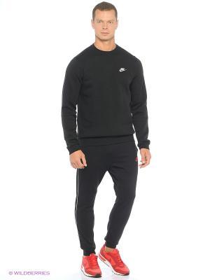 Свитшот M NSW CRW FLC CLUB Nike. Цвет: черный