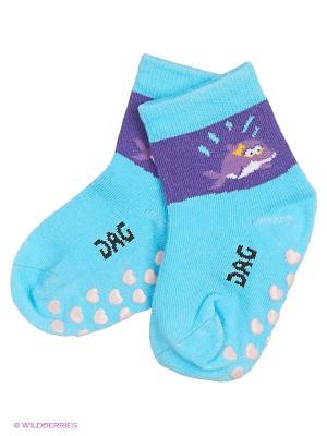Носки DAG. Цвет: голубой