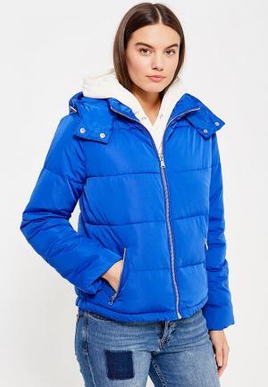 Куртка утепленная Miss Selfridge. Цвет: синий